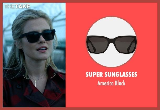 Super Sunglasses black black from Jessica Jones seen with Trish Walker (Rachael Taylor)