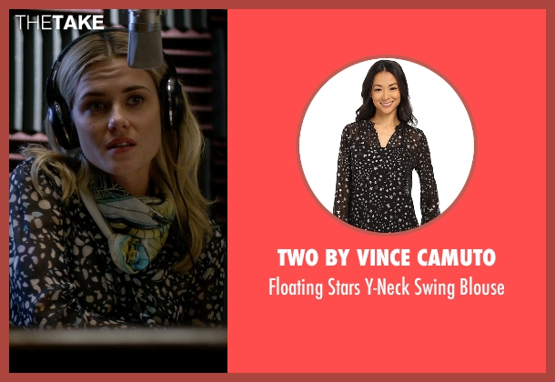 TWO by Vince Camuto black blouse from Jessica Jones seen with Trish Walker (Rachael Taylor)