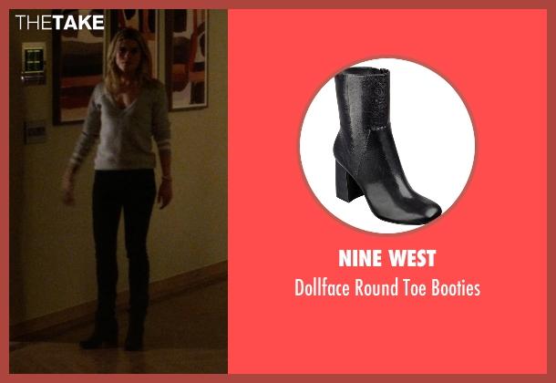 Nine West black booties from Jessica Jones seen with Trish Walker (Rachael Taylor)