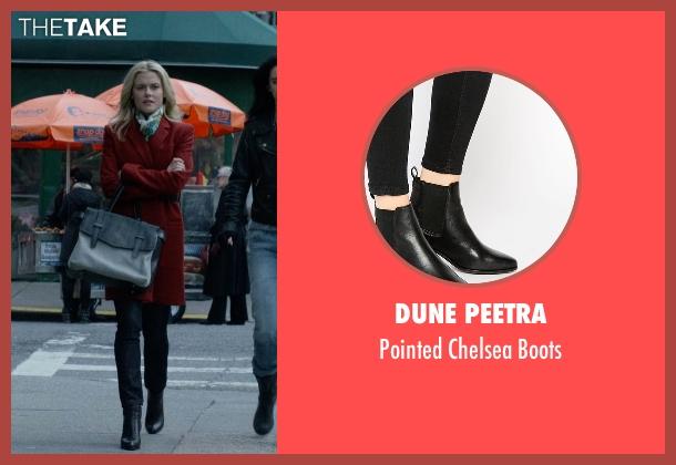 Dune Peetra black boots from Jessica Jones seen with Trish Walker (Rachael Taylor)