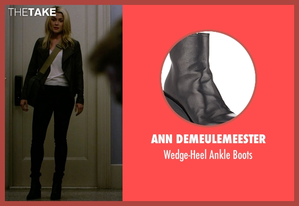 Ann Demeulemeester black boots from Jessica Jones seen with Trish Walker (Rachael Taylor)