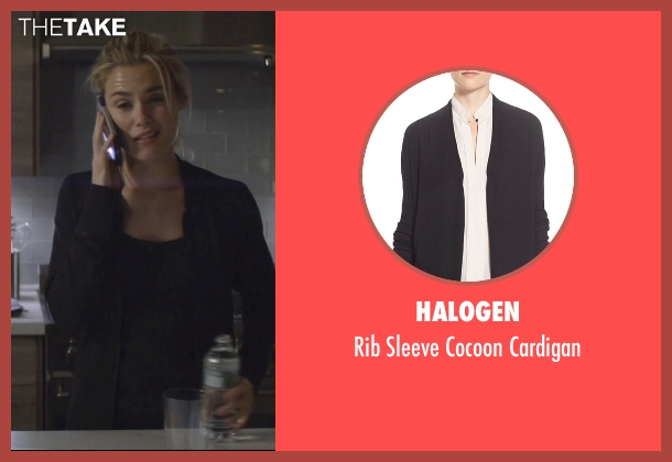 Halogen black cardigan from Jessica Jones seen with Trish Walker (Rachael Taylor)