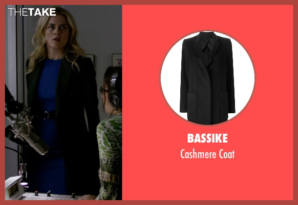 Bassike black coat from Jessica Jones seen with Trish Walker (Rachael Taylor)