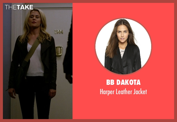 BB Dakota black jacket from Jessica Jones seen with Trish Walker (Rachael Taylor)