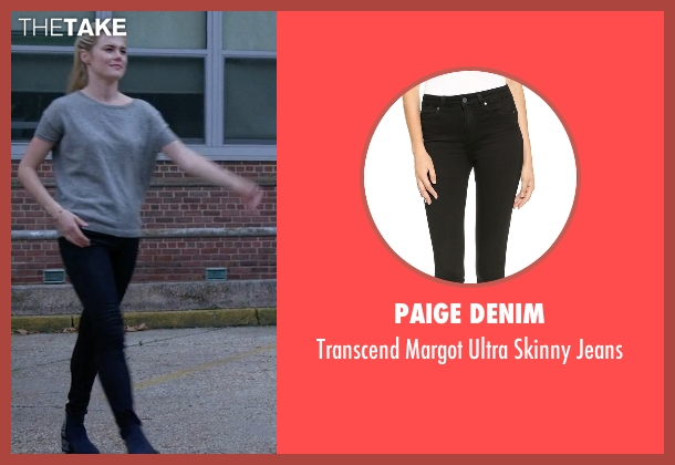 Paige Denim black jeans from Jessica Jones seen with Trish Walker (Rachael Taylor)