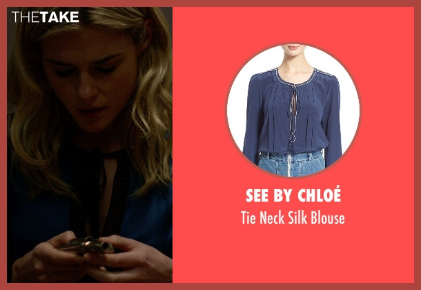 See by Chloé blue blouse from Jessica Jones seen with Trish Walker (Rachael Taylor)
