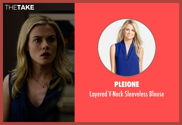 Pleione blue blouse from Jessica Jones seen with Trish Walker (Rachael Taylor)