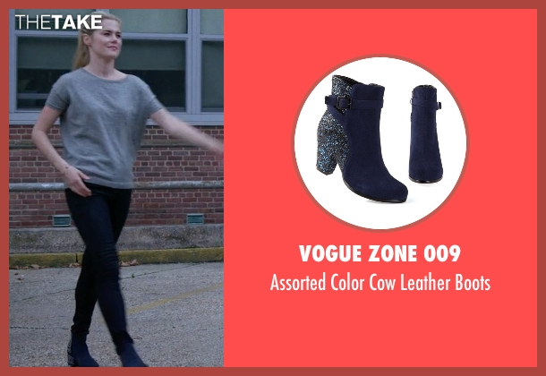 Vogue Zone 009 blue boots from Jessica Jones seen with Trish Walker (Rachael Taylor)