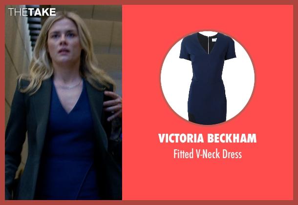 Victoria Beckham blue dress from Jessica Jones seen with Trish Walker (Rachael Taylor)
