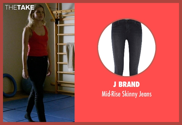 J Brand blue jeans from Jessica Jones seen with Trish Walker (Rachael Taylor)