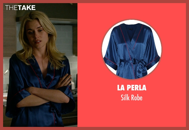La Perla blue robe from Jessica Jones seen with Trish Walker (Rachael Taylor)