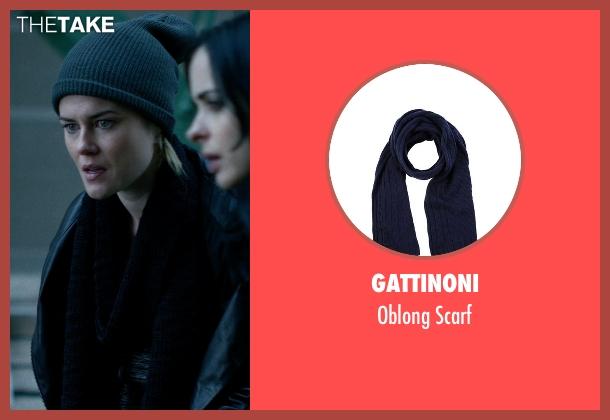 Gattinoni blue scarf from Jessica Jones seen with Trish Walker (Rachael Taylor)