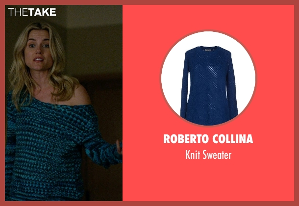 Roberto Collina blue sweater from Jessica Jones seen with Trish Walker (Rachael Taylor)