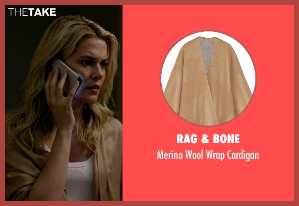 Rag & Bone brown cardigan from Jessica Jones seen with Trish Walker (Rachael Taylor)