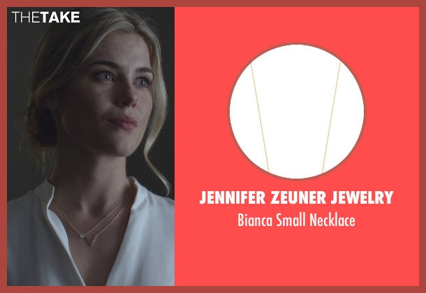 Jennifer Zeuner Jewelry gold necklace from Jessica Jones seen with Trish Walker (Rachael Taylor)