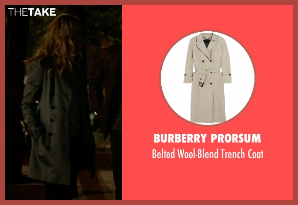 Burberry Prorsum gray coat from Jessica Jones seen with Trish Walker (Rachael Taylor)