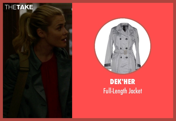 Dek'her gray jacket from Jessica Jones seen with Trish Walker (Rachael Taylor)