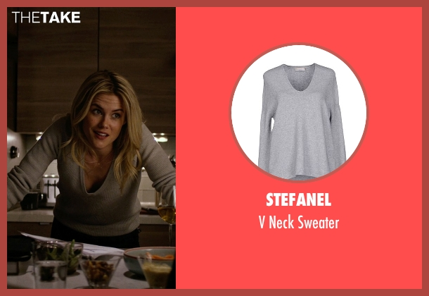 Stefanel gray sweater from Jessica Jones seen with Trish Walker (Rachael Taylor)