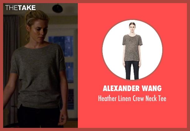 Alexander Wang gray tee from Jessica Jones seen with Trish Walker (Rachael Taylor)