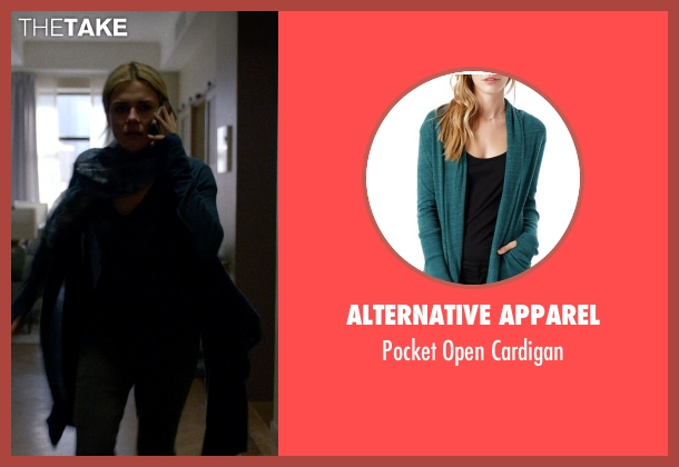 Alternative Apparel green cardigan from Jessica Jones seen with Trish Walker (Rachael Taylor)