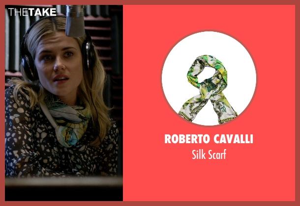 Roberto Cavalli green scarf from Jessica Jones seen with Trish Walker (Rachael Taylor)