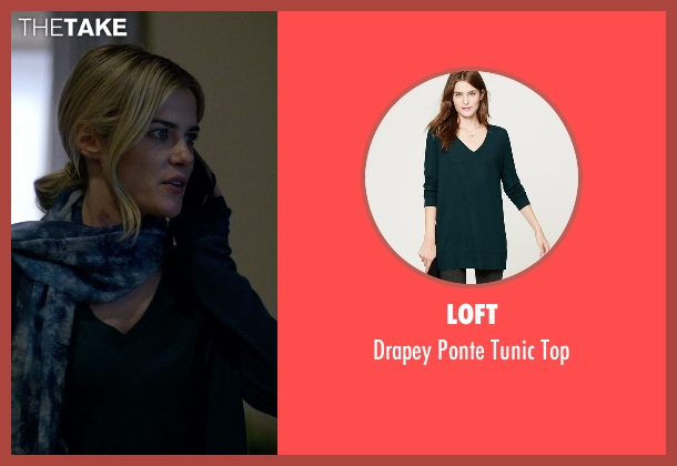 Loft green top from Jessica Jones seen with Trish Walker (Rachael Taylor)