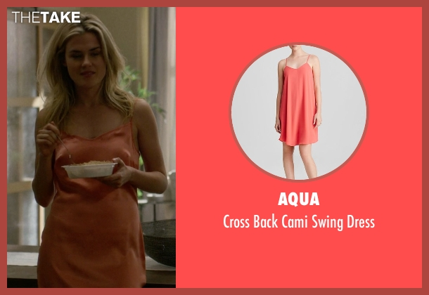 Aqua orange dress from Jessica Jones seen with Trish Walker (Rachael Taylor)