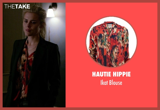 Hautie Hippie red blouse from Jessica Jones seen with Trish Walker (Rachael Taylor)