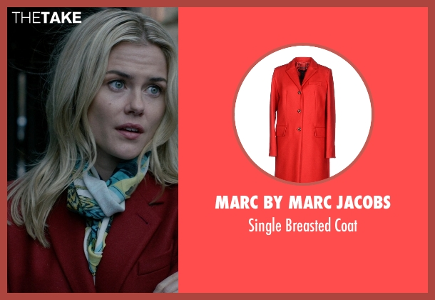 Marc by Marc Jacobs red coat from Jessica Jones seen with Trish Walker (Rachael Taylor)