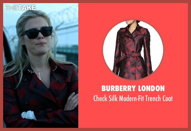 Burberry London red coat from Jessica Jones seen with Trish Walker (Rachael Taylor)