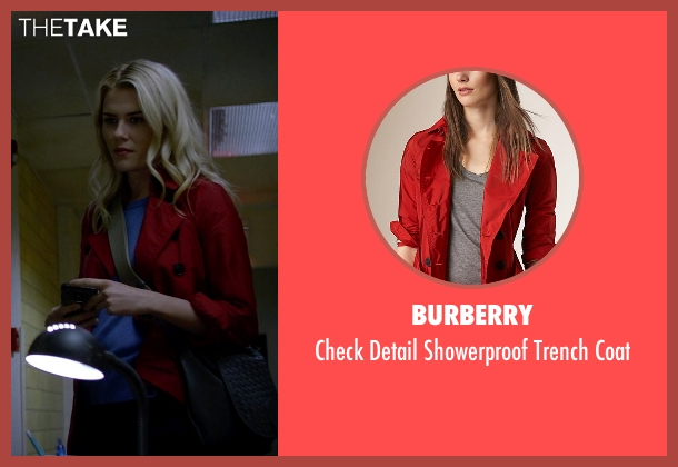 Burberry red coat from Jessica Jones seen with Trish Walker (Rachael Taylor)