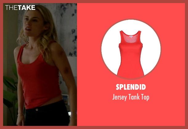 Splendid red top from Jessica Jones seen with Trish Walker (Rachael Taylor)