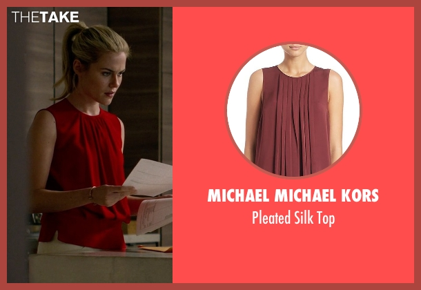 Michael Michael Kors red top from Jessica Jones seen with Trish Walker (Rachael Taylor)