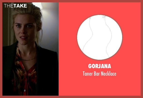 Gorjana silver necklace from Jessica Jones seen with Trish Walker (Rachael Taylor)