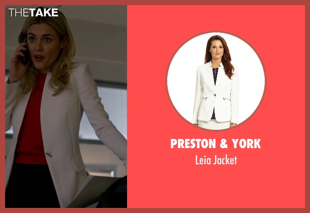Preston & York white jacket from Jessica Jones seen with Trish Walker (Rachael Taylor)
