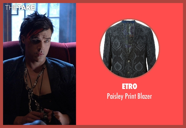 Etro blue blazer from American Horror Story seen with Tristan Duffy (Finn Wittrock)