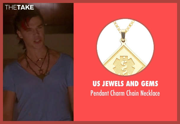 Us Jewels And Gems gold necklace from American Horror Story seen with Tristan Duffy (Finn Wittrock)