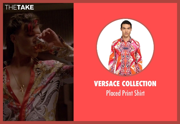 Versace Collection orange shirt from American Horror Story seen with Tristan Duffy (Finn Wittrock)