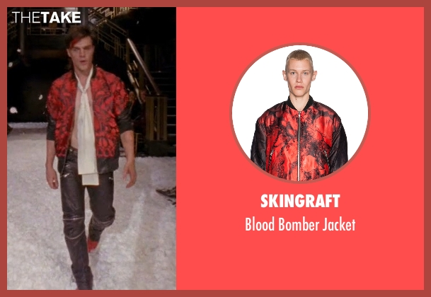 Skingraft red jacket from American Horror Story seen with Tristan Duffy (Finn Wittrock)