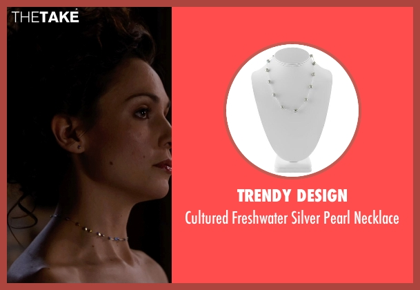 Trendy Design necklace from Jupiter Ascending seen with Tuppence Middleton (Kalique Abrasax)