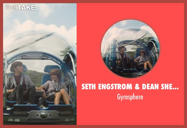 Seth Engstrom & Dean Sherriff (Concept Artist) gyrosphere from Jurassic World seen with Ty Simpkins (Gray)