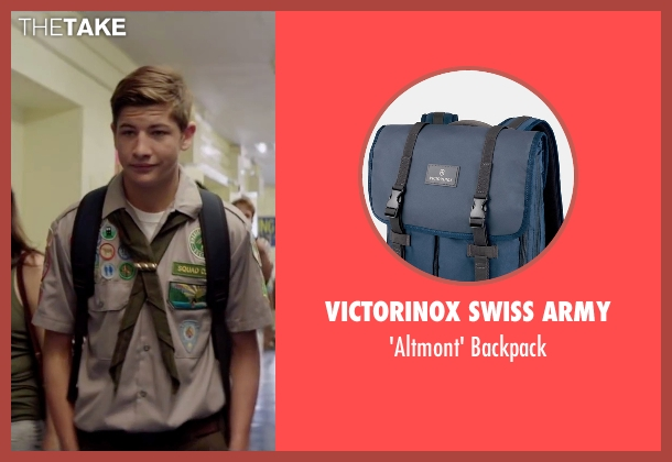 Victorinox Swiss Army blue backpack from Scout's Guide to the Zombie Apocalypse seen with Tye Sheridan (Ben)