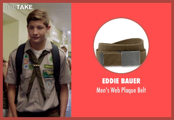 Eddie Bauer brown belt from Scout's Guide to the Zombie Apocalypse seen with Tye Sheridan (Ben)