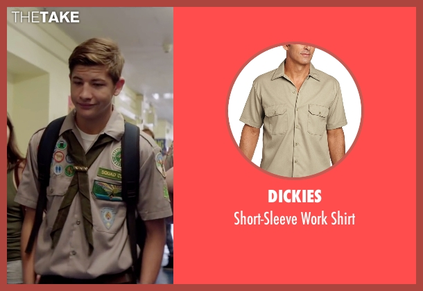 Dickies brown shirt from Scout's Guide to the Zombie Apocalypse seen with Tye Sheridan (Ben)