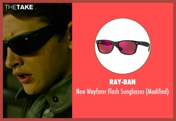 Ray-Ban black sunglasses from X-Men: Apocalypse seen with Tye Sheridan (Scott Summers / Cyclops)