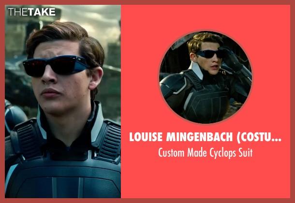 Louise Mingenbach (Costume Designer) suit from X-Men: Apocalypse seen with Tye Sheridan (Scott Summers / Cyclops)