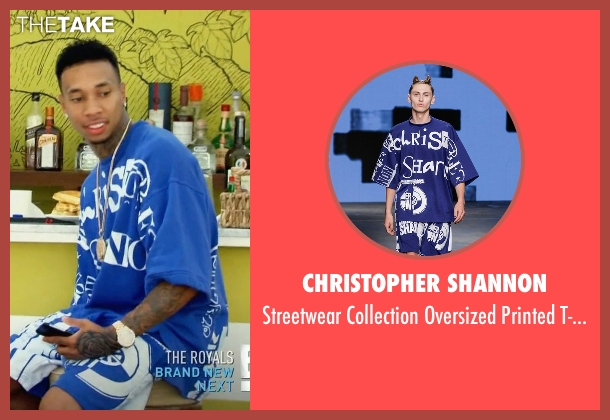 Christopher Shannon blue t-shirt from Keeping Up With The Kardashians seen with Tyga