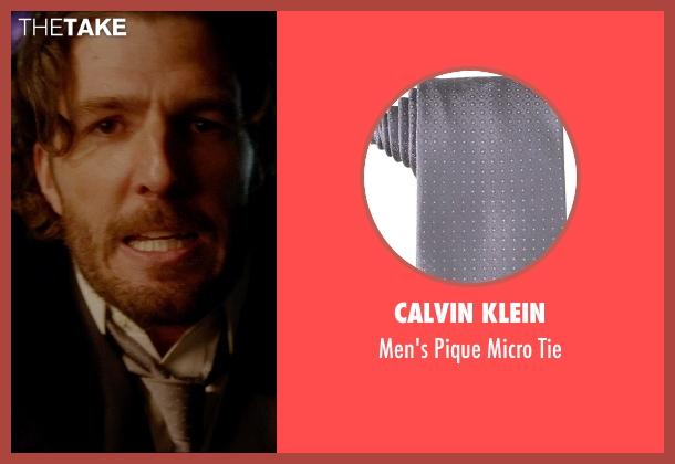 Calvin Klein gray tie from Vice seen with Tyler Jon Olson (Steve)