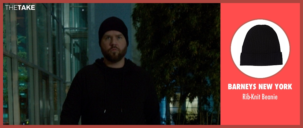 Barneys New York black beanie from The Boss seen with Tyler Labine (Mike Beals)