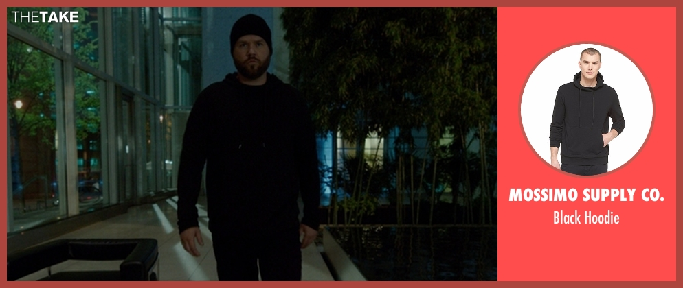 Mossimo Supply Co. black hoodie from The Boss seen with Tyler Labine (Mike Beals)